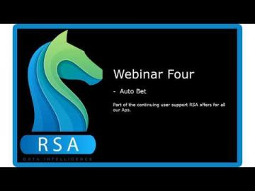 RaceStatsApp Webinar Four - Q and A on Auto Bet