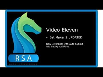 RaceStatsApp Video 11 - Bet Maker 2 UPDATED